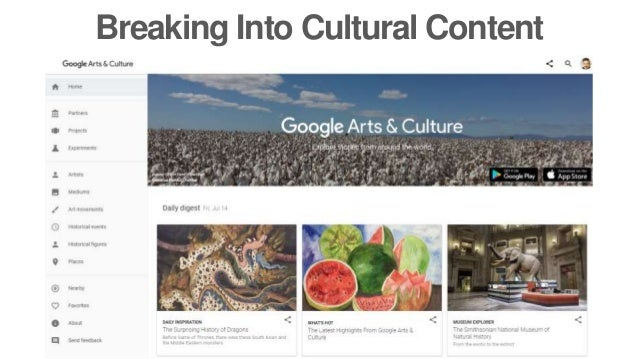 Breaking Into Cultural Content