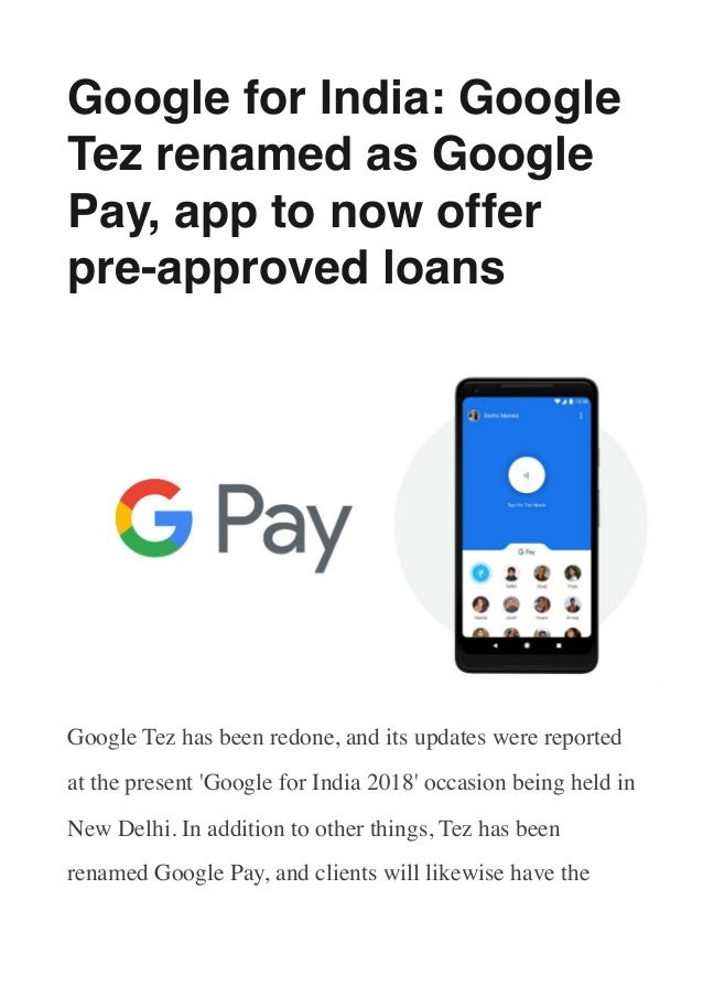 Google for India: Google Tez renamed as Google Pay, app to