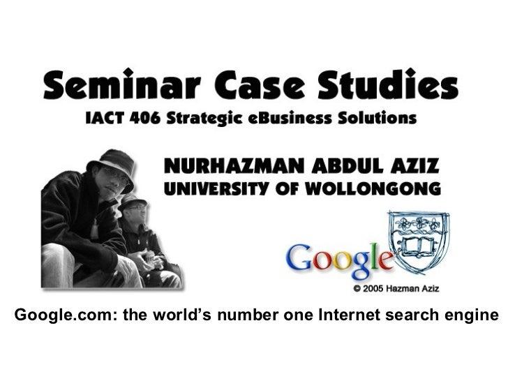 Google & the Information Industry Slide 2