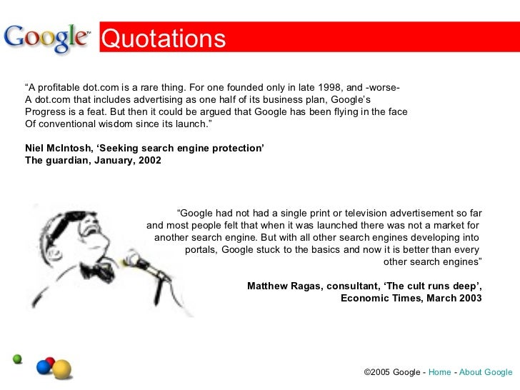 Google & the Information Industry Slide 3