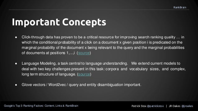 ● Click-through data has proven to be a critical resource for improving search ranking quality … in which the conditional ...