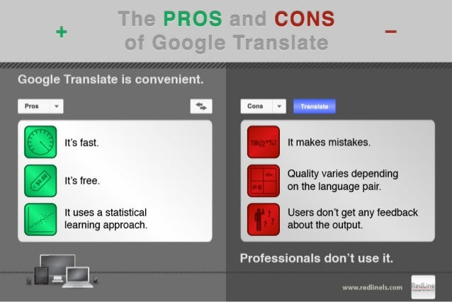 The pros and cons of Google Translate