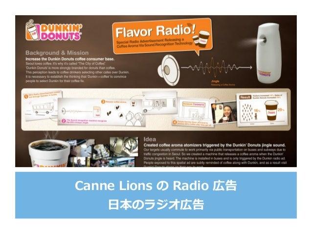Canne Lions の Radio 広告 ⽇本のラジオ広告