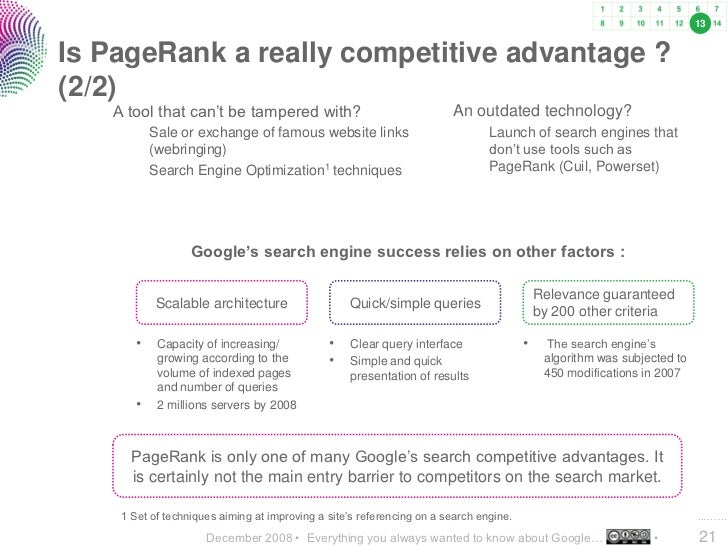 13   Is PageRank a really competitive advantage ? (2/2)    A tool that can't be tampered with?                            ...