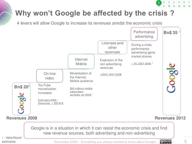 1           Why won't Google be affected by the crisis ?          4 levers will allow Google to increase its revenues amid...