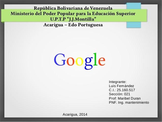 República Bolivariana de VenezuelaRepública Bolivariana de Venezuela Ministerio del Poder Popular para la Educación Superi...