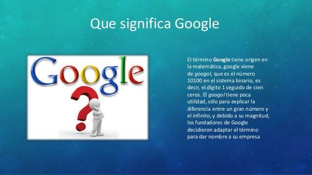 Google for Google docs que significa
