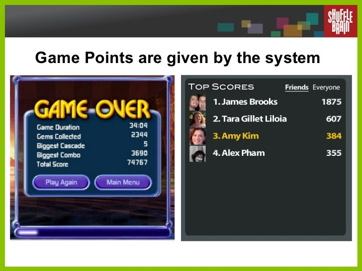 Game Points are given by the system