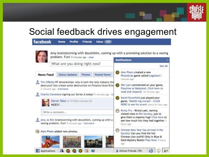 Social feedback drives engagement