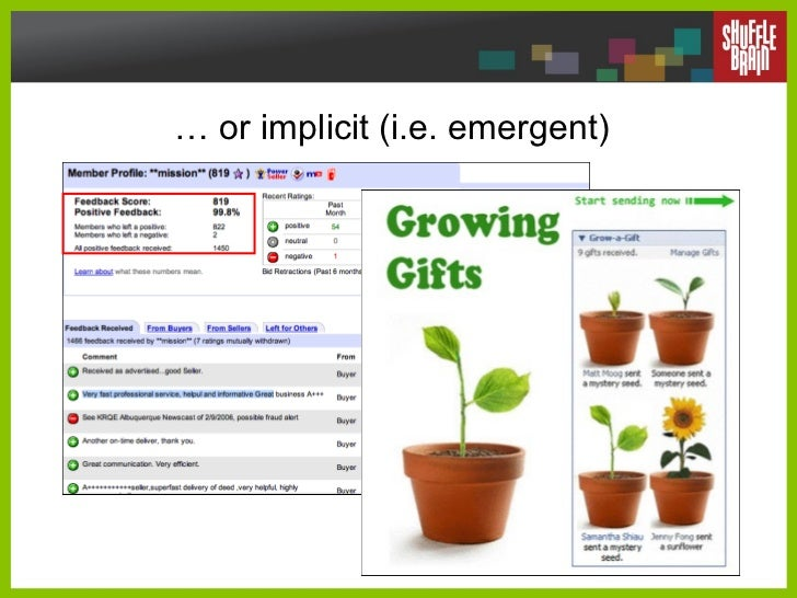 …  or implicit (i.e. emergent)