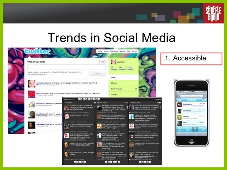 Trends in Social Media <ul><li>Accessible </li></ul>