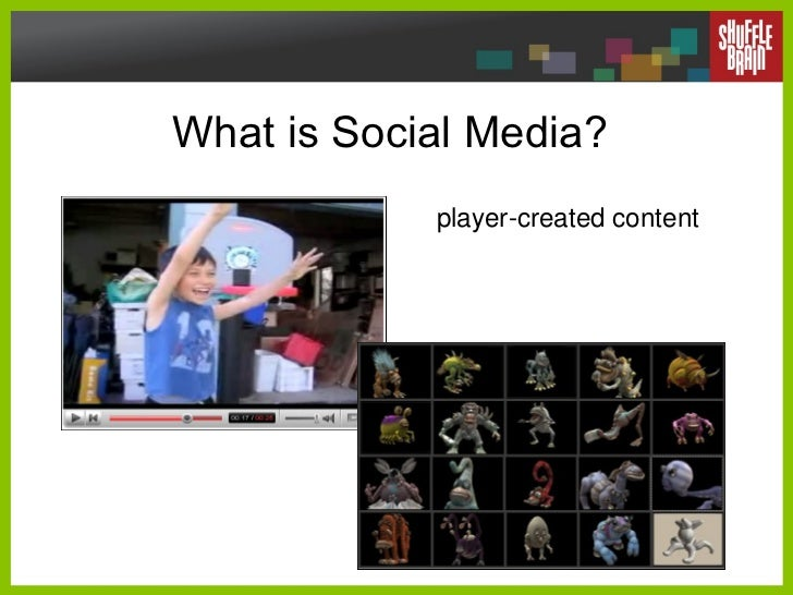 What is Social Media? player-created content