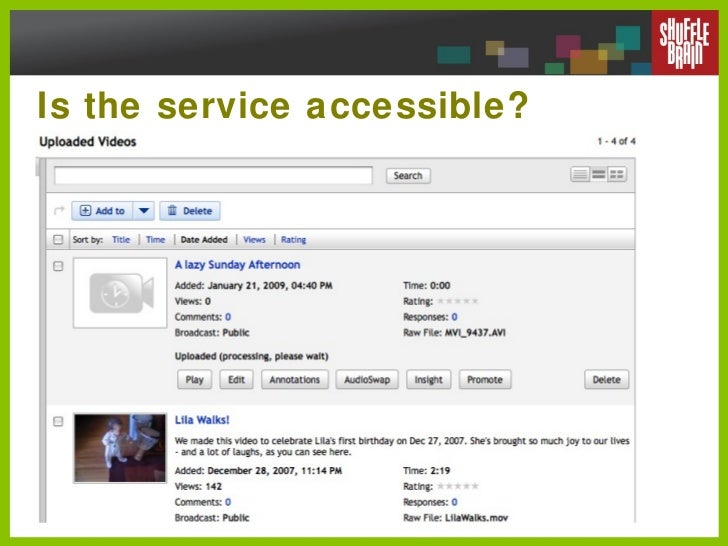 Is the service accessible?