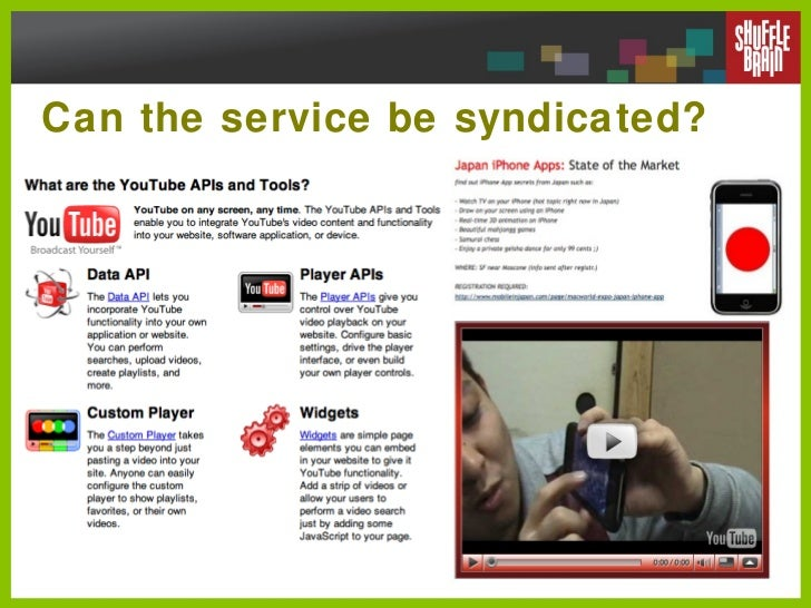 Can the service be syndicated?