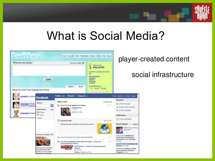 What is Social Media? player-created content social infrastructure