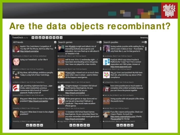 Are the data objects recombinant?