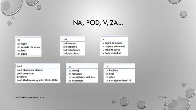 NA, POD, V, ZA...  Čo Slovákov trápilo v marci 2014?  9.3.2014  11
