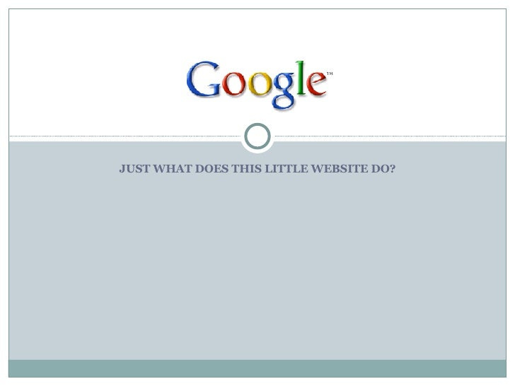 JUST WHAT DOES THIS LITTLE WEBSITE DO?