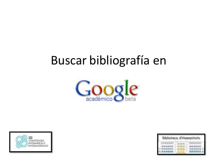 Buscar bibliografía en