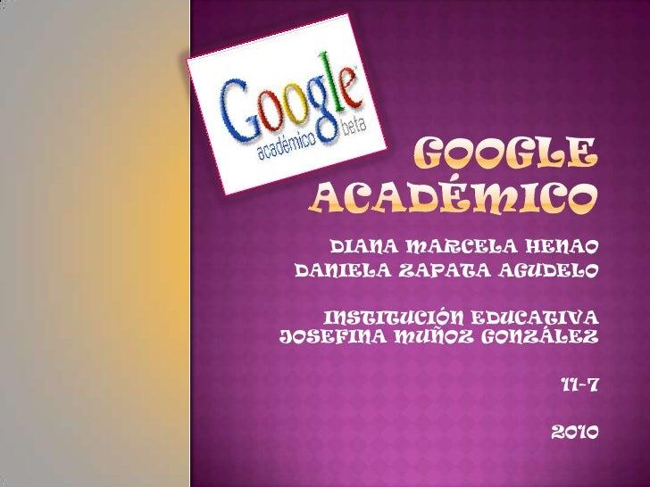 Google Academico Google Libros