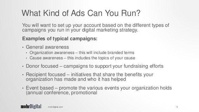 You will want to set up your account based on the different types of campaigns you run in your digital marketing strategy....