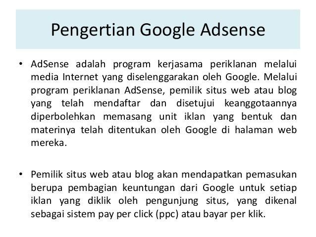 2. Pengertian Google Adsense ...