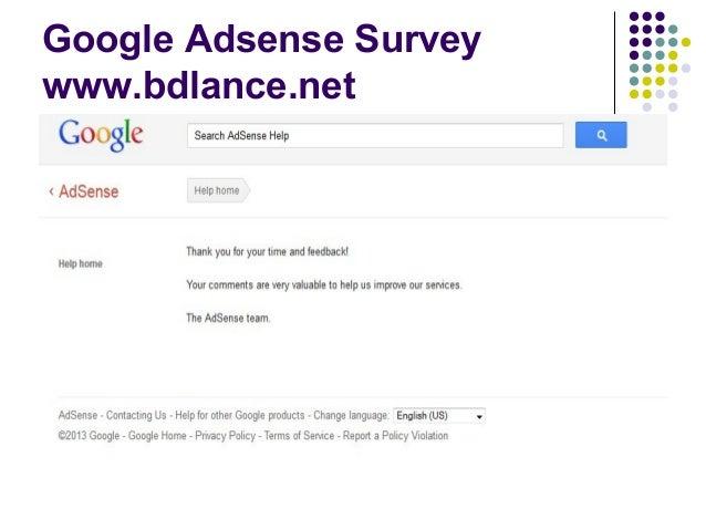 Google adsense survey in Bangladesh