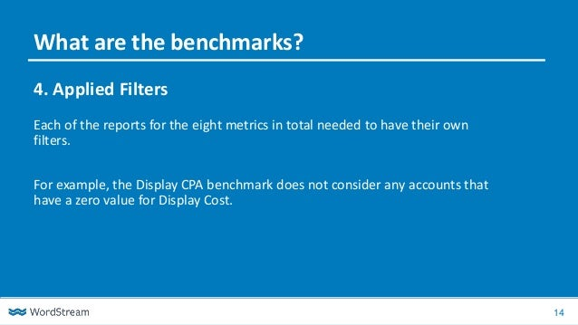 14 4. Applied Filters Each of the reports for the eight metrics in total needed to have their own filters. For example, th...