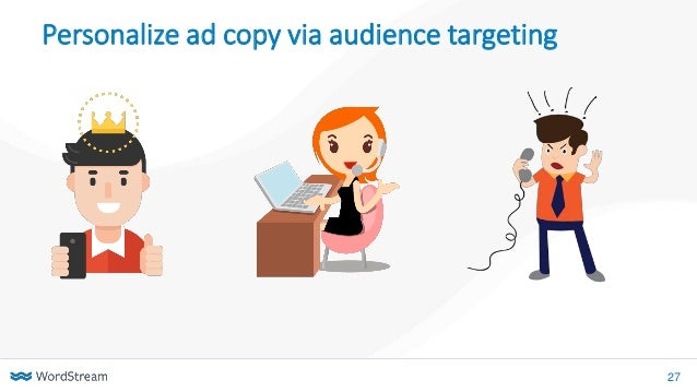 27 Personalize ad copy via audience targeting