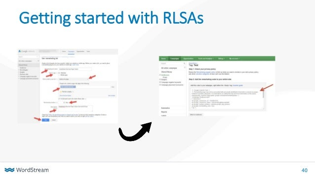 40 Getting started with RLSAs