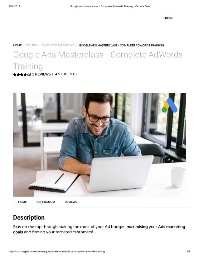 Google Ads Masterclass - Complete AdWords Training - Course Gate