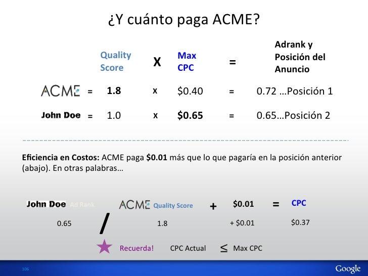 ¿Y cuánto paga ACME?                                                                                              ...