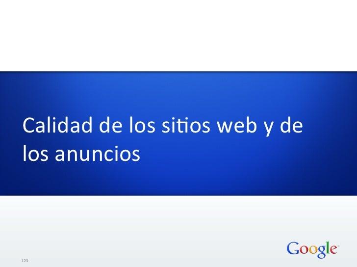 Calidad de los siHos web y de los anuncios 123