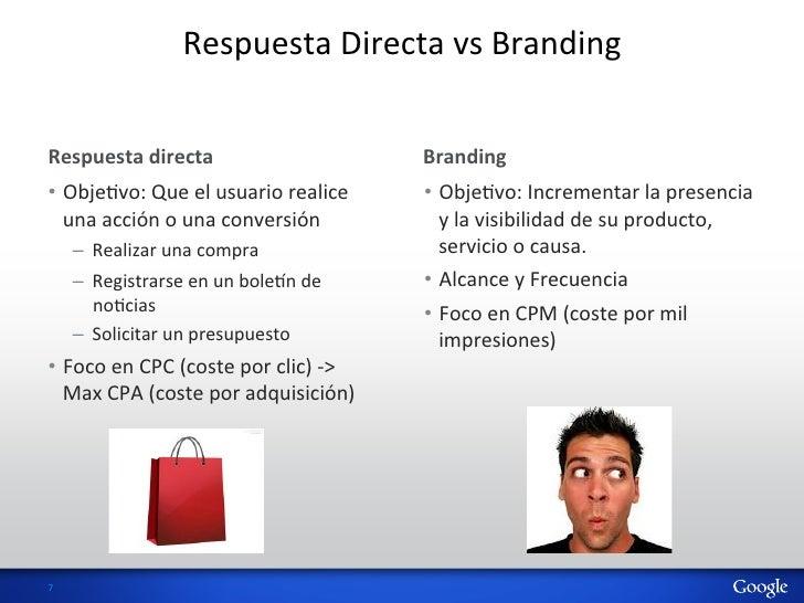 Respuesta Directa vs Branding Respuesta directa                                      Branding  • ObjeHvo:...