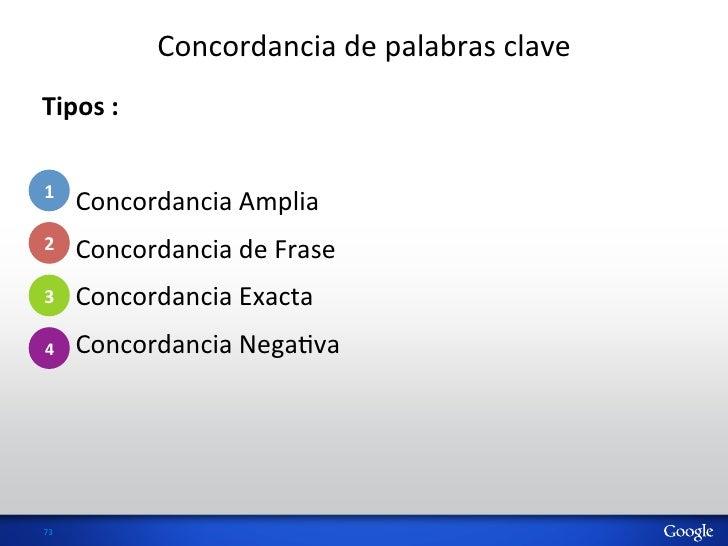 Concordancia de palabras clave Tipos : 1 • Concordancia Amplia • Concordancia de Frase 2 • Co...