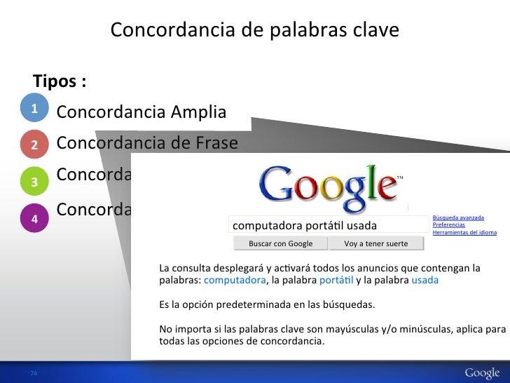 Concordancia de palabras clave  Tipos : 1 •       Concordancia Amplia •2     Concordancia de Fra...