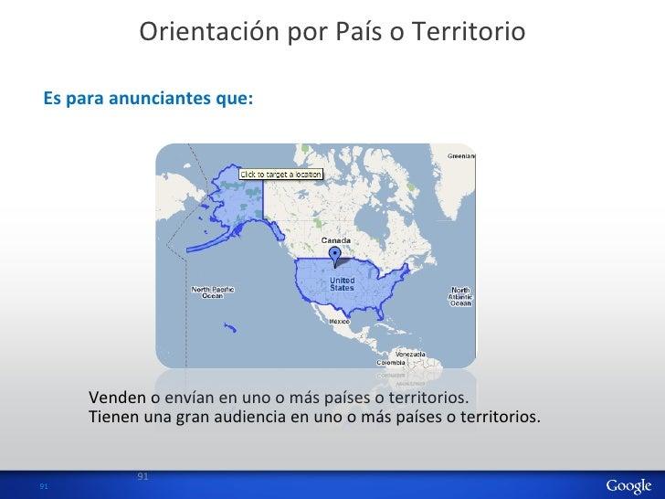 Orientación por País o Territorio   Es para anunciantes que:          Venden o envían en uno o...