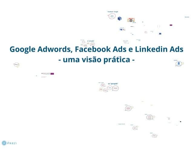 Google adwords, Facebok Ads e Linkedin Ads - uma visão prática