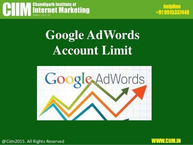 Google adwords account limits реклама товаров примерв
