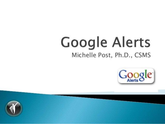 Michelle Post, Ph.D., CSMS