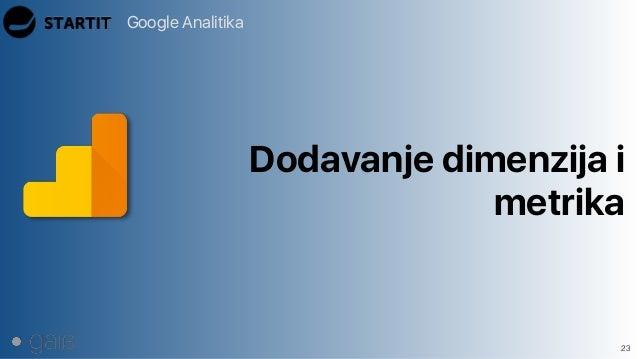 Google Analitika 23 Dodavanje dimenzija i metrika
