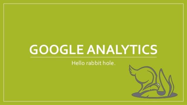 GOOGLE ANALYTICS Hello rabbit hole.