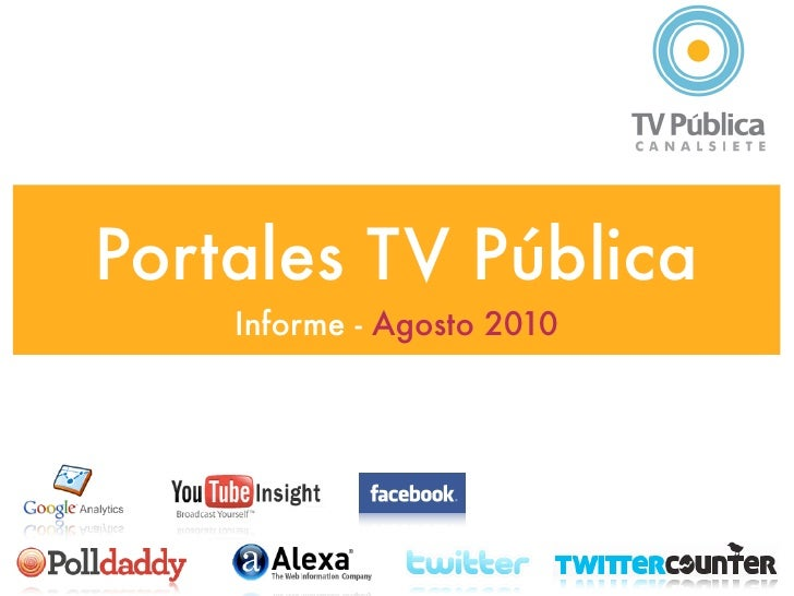 Google analytics  TV Pública - 2010 agosto