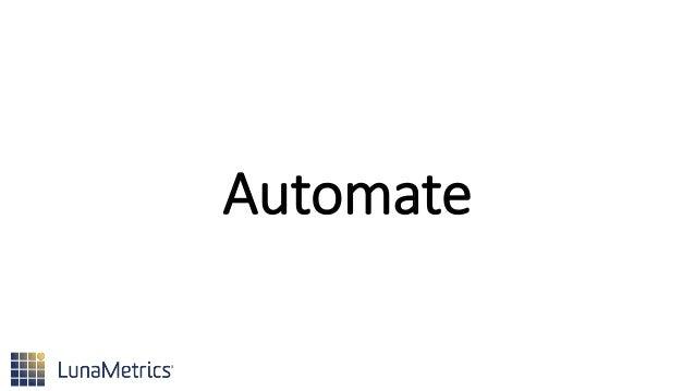 Set an Alert •Automate