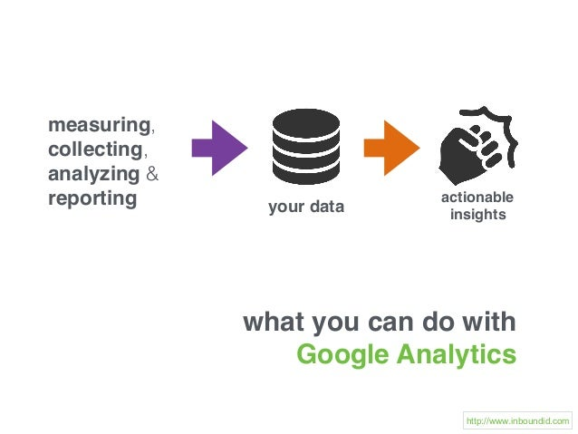 what you can do with Google Analytics measuring, collecting, analyzing & reporting your data actionable insights http://ww...