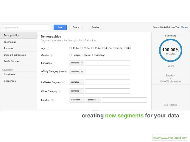 creating new segments for your data http://www.inboundid.com