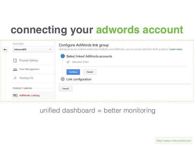 connecting your adwords account unified dashboard = better monitoring http://www.inboundid.com