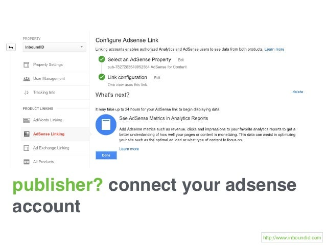 publisher? connect your adsense account http://www.inboundid.com