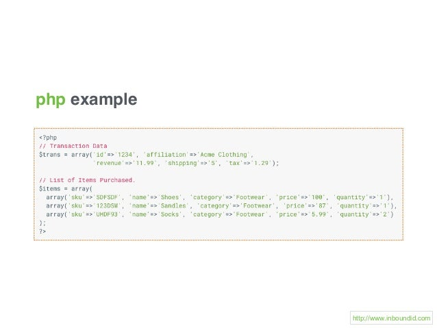 php example http://www.inboundid.com