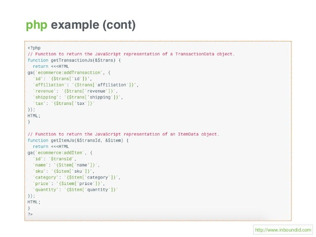 php example (cont) http://www.inboundid.com